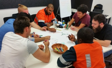 Arthentic team building workshop at the BMA mine planning teamday (3)